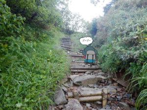 朝日岳を登る7