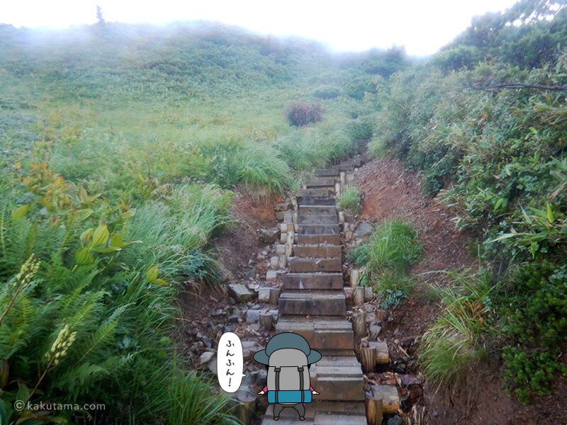 朝日岳を登る10