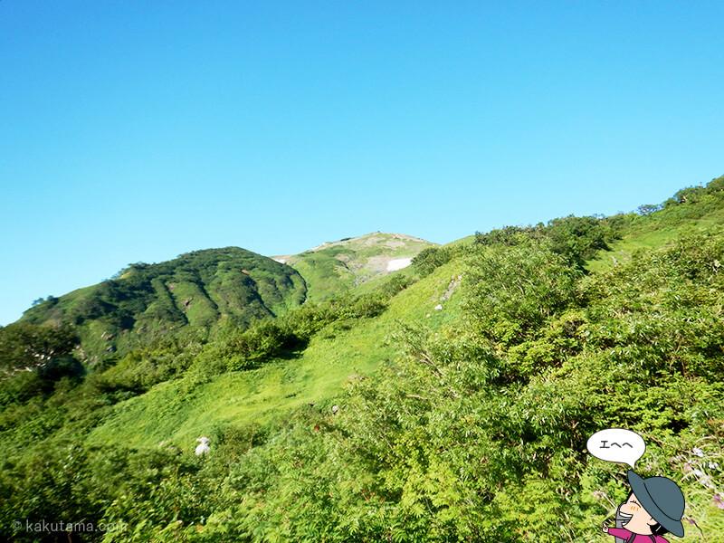 朝日岳を振り返る
