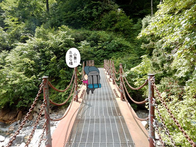 瀬戸川出合の橋