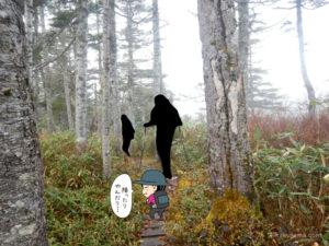 北野口登山口から風吹岳へ向かって登る8