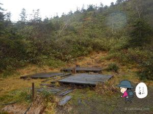 風吹山荘の幕営地