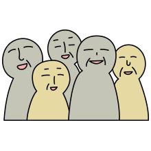 老人の集団