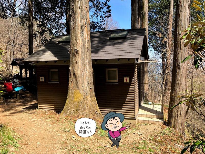 両神山清滝小屋のトイレ