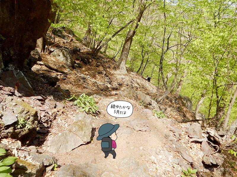 両神山表参道コースを下る5