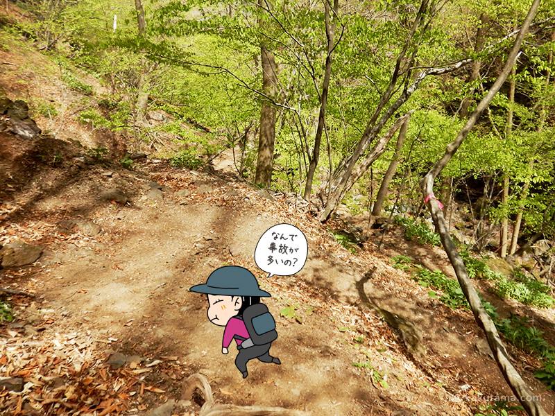 両神山表参道コースを下る7