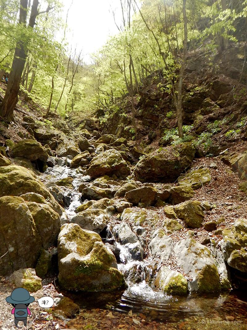 両神山表参道コースの滝