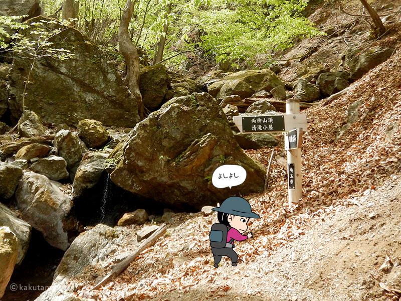 両神山表参道コースの標識