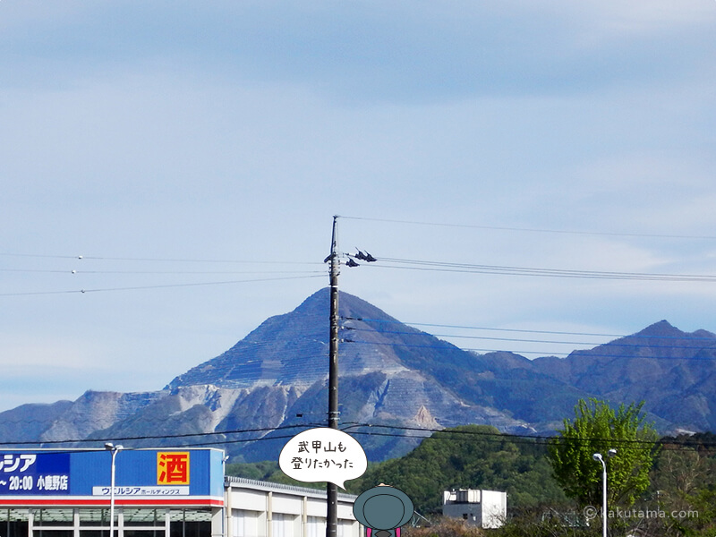 武甲山を見上げる