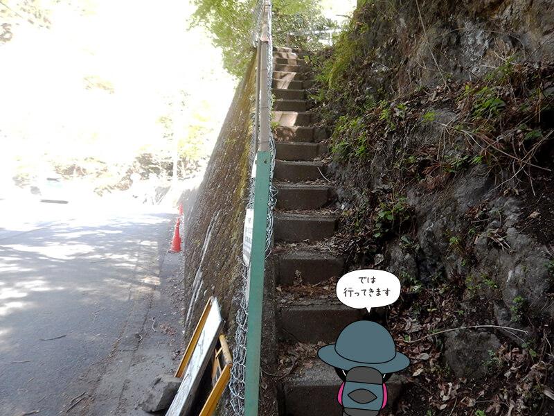 両神山荘への階段1