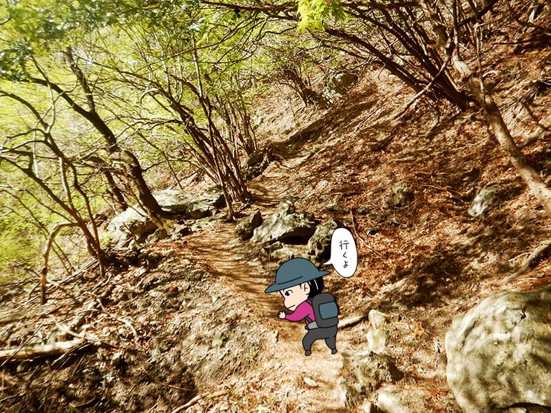 日向大谷の登山口2