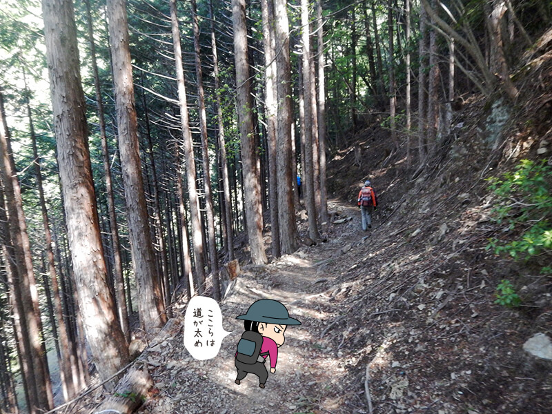 日向大谷の登山道2