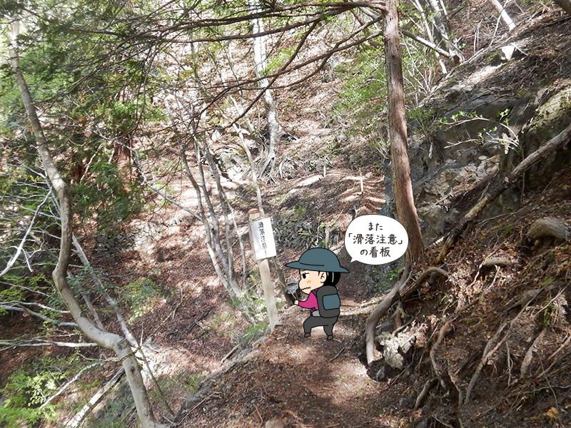 日向大谷の登山道11