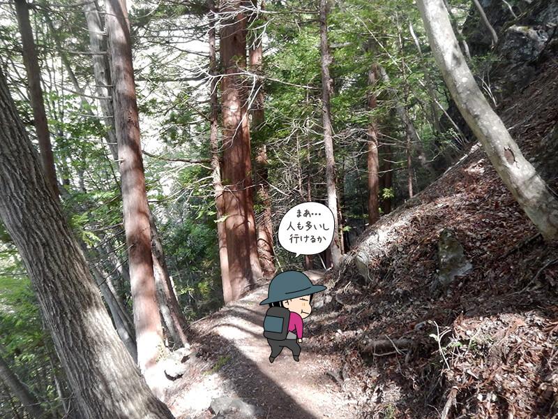 日向大谷の登山道13