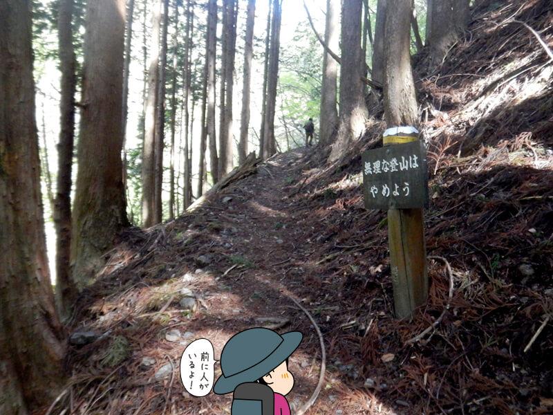 七滝沢コースを進むことに