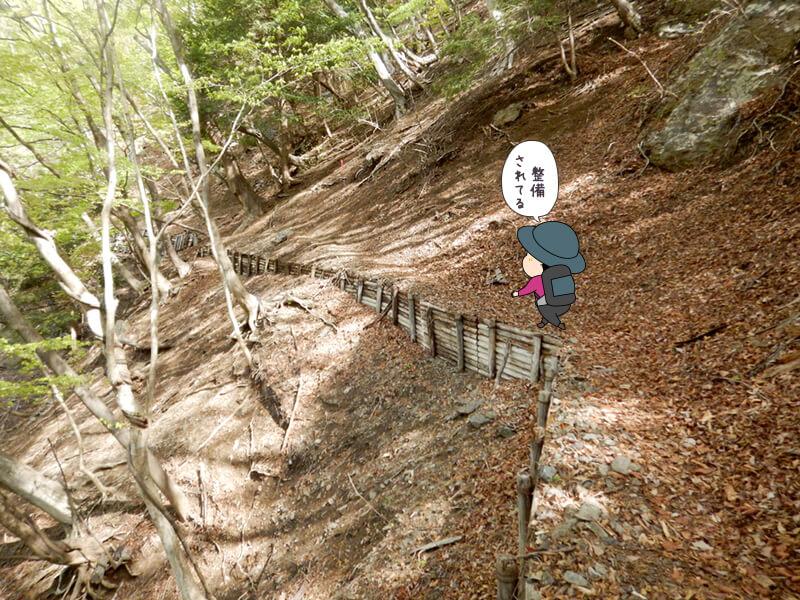 七滝沢コースを上る