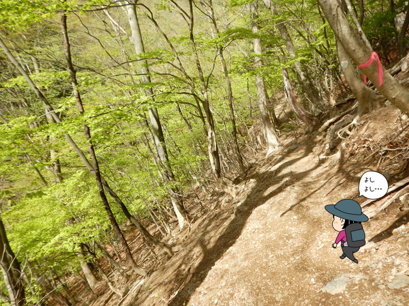 七滝沢コースを上る3