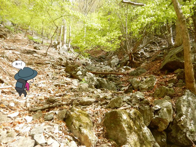 七滝沢コースを上る4