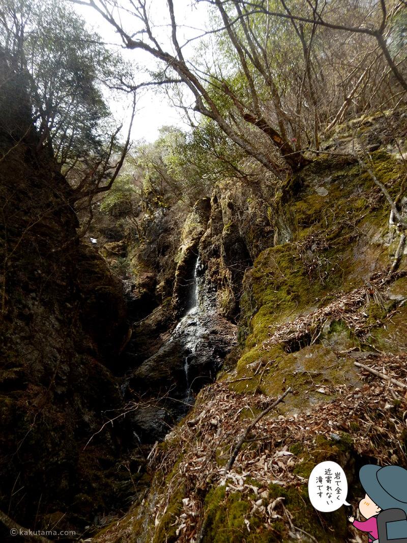 七滝沢コースのスポット養老の滝