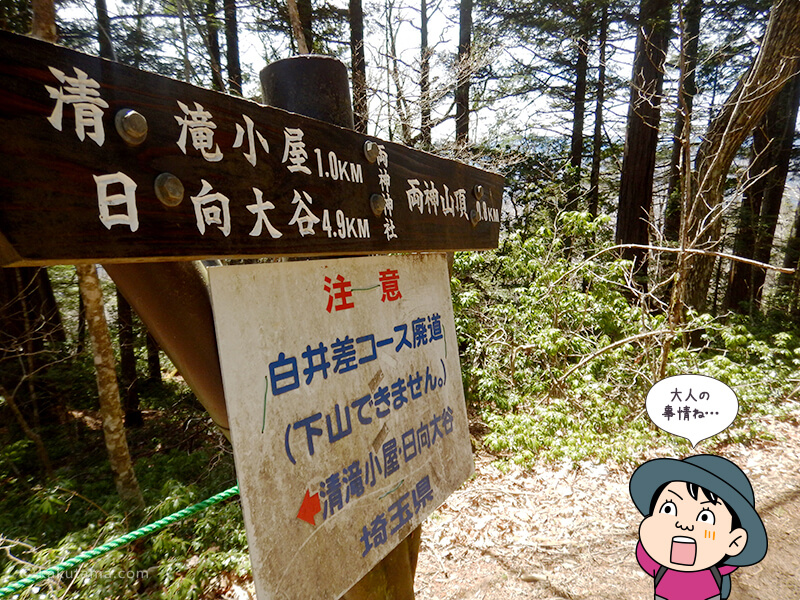 両神神社の道標