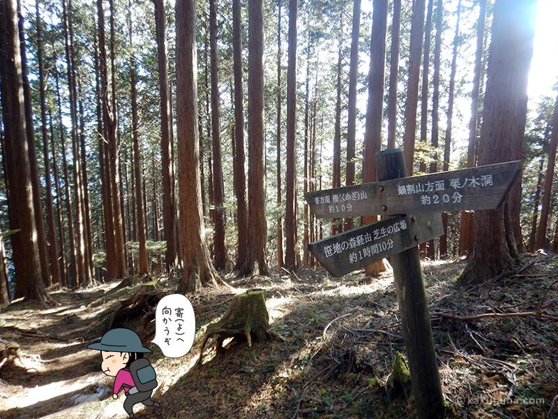 栗の木洞から先へ進む