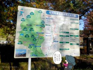 丹沢の山々のイラストマップ