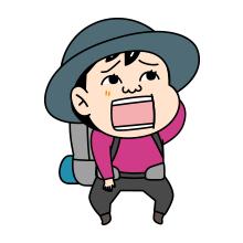 悩む登山者のイラスト_0005