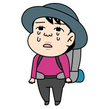 泣く登山者のイラスト_0007