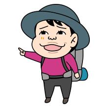 笑う登山者のイラスト_0004