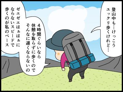 登山用語ペースにまつわる4コマ漫画2