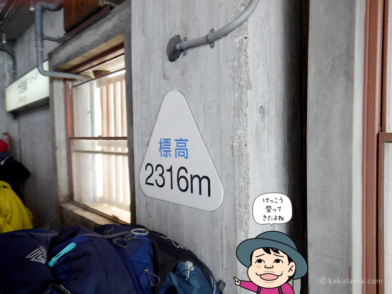 標高2316m