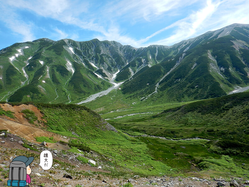 かっこいい立山の稜線
