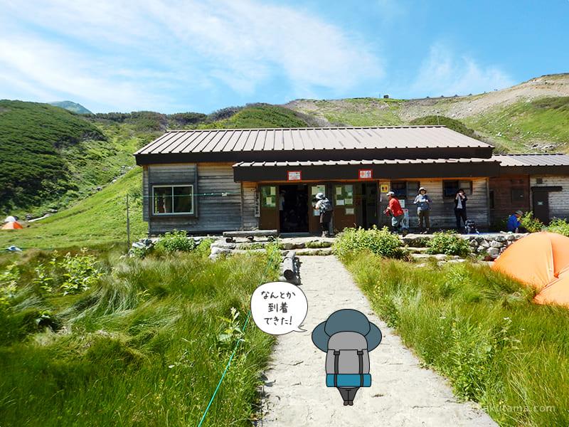 雷鳥沢キャンプ場へ着いた