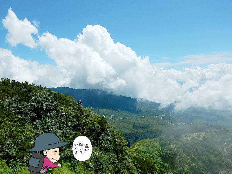 奥大日岳山頂からの風景1