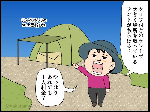 雷鳥沢キャンプ場での思い出漫画2