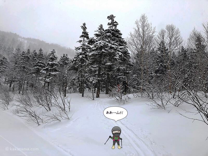 雪原を歩く1