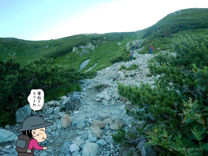 雷鳥坂を登る3