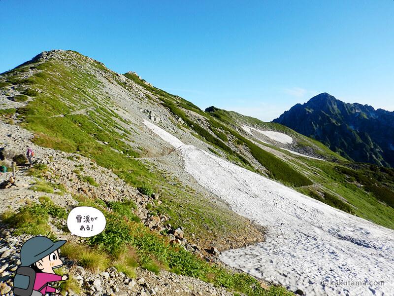 剱御前小舎から奥大日岳方面を望む