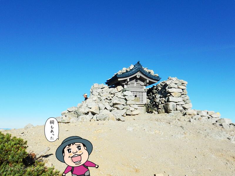 別山南峰の祠