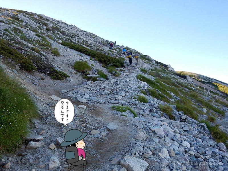 真砂岳へ向かって歩き出す4