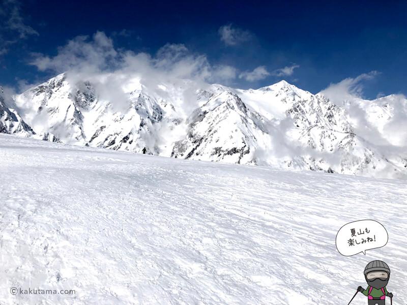 真っ白な白馬三山