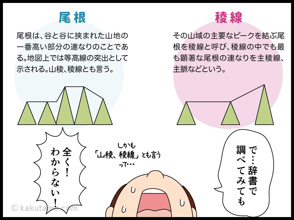 稜線と尾根の違いがわからない漫画3
