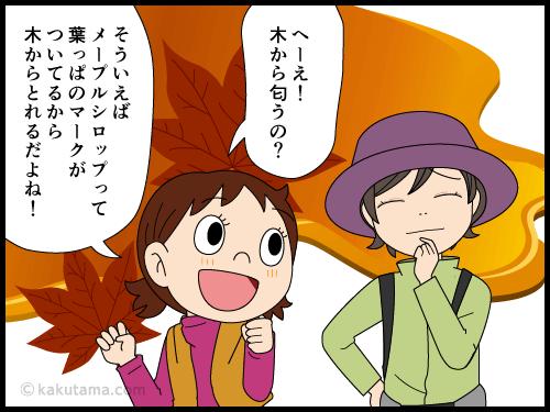 山に香る甘い匂いの正体は桂の木の4コマ漫画3