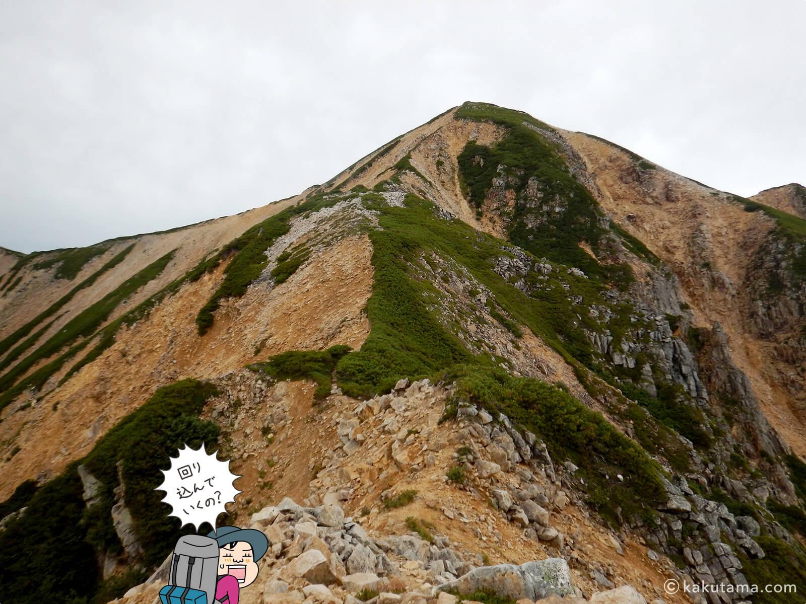 赤牛岳最後の登りが辛い2