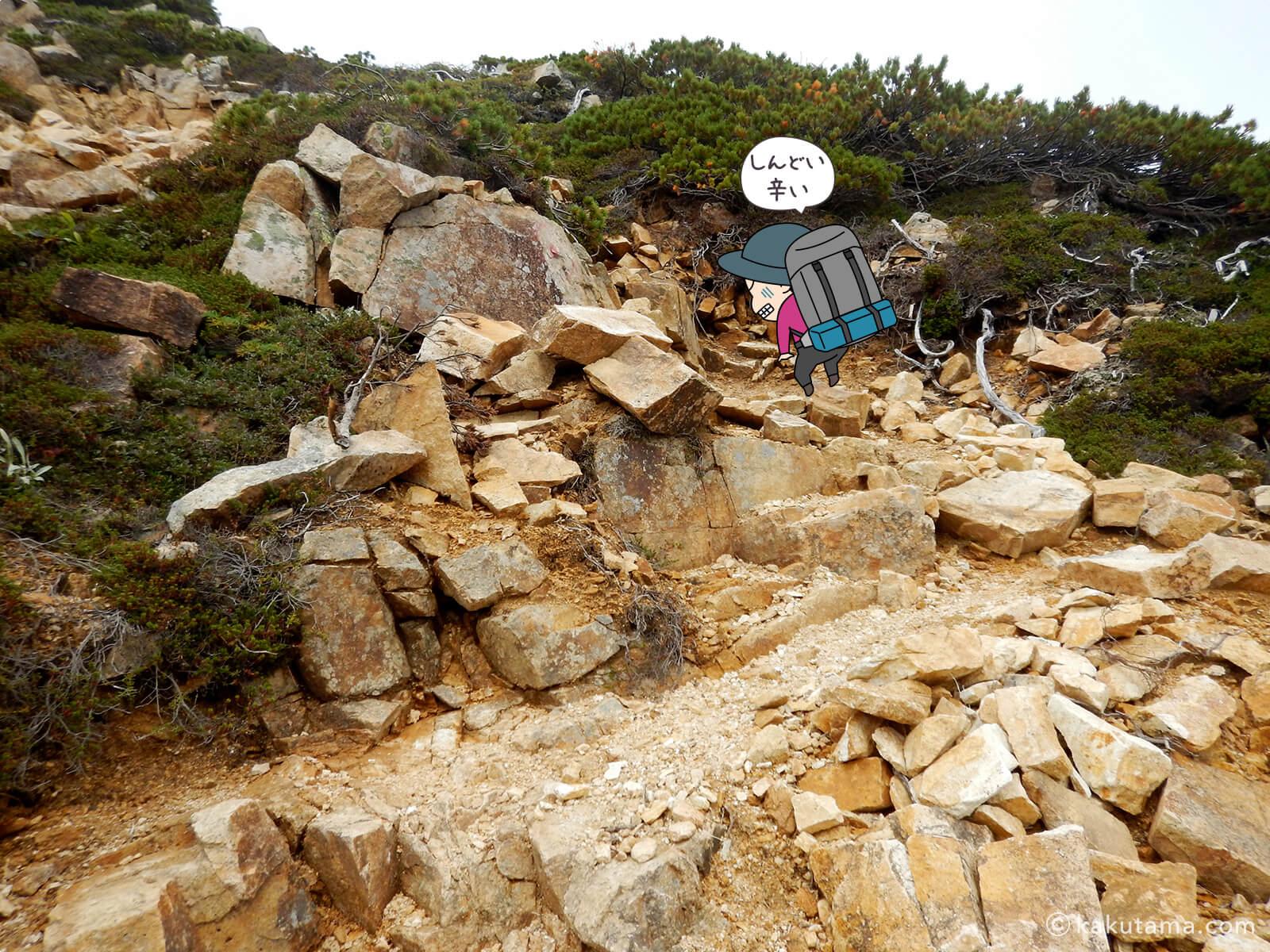 赤牛岳最後の登りが辛い5