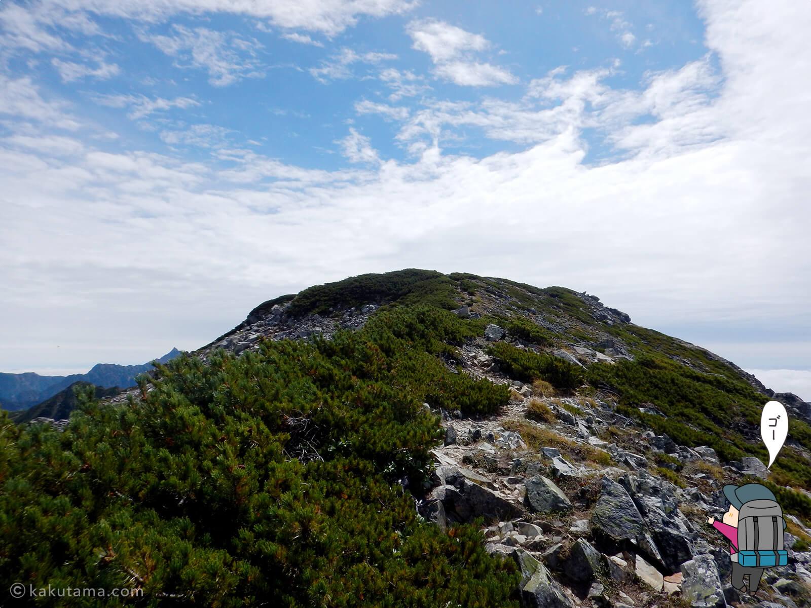 水晶岳へのラストロード