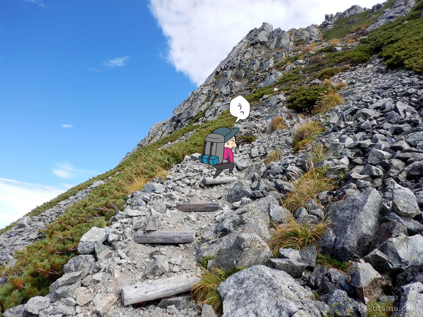 なかなか近づかない水晶岳5