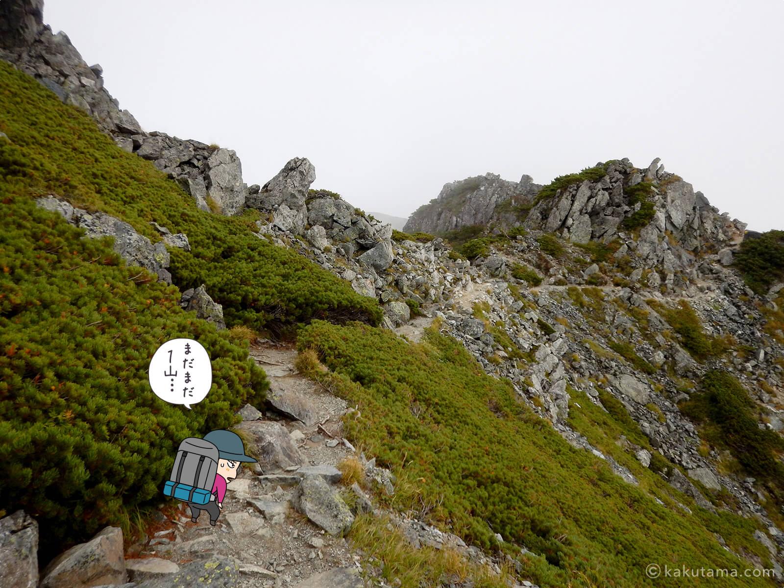 水晶岳から下山6