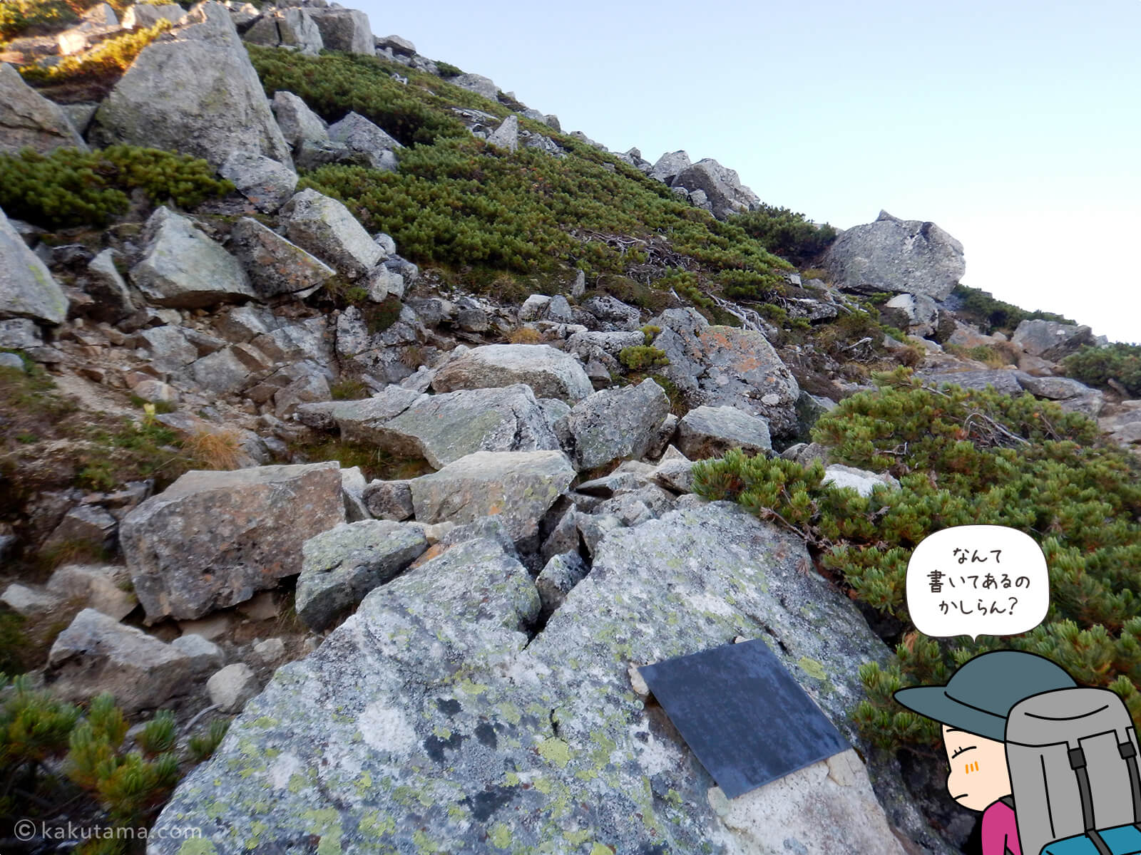 鷲羽岳へ向かって上りだす3