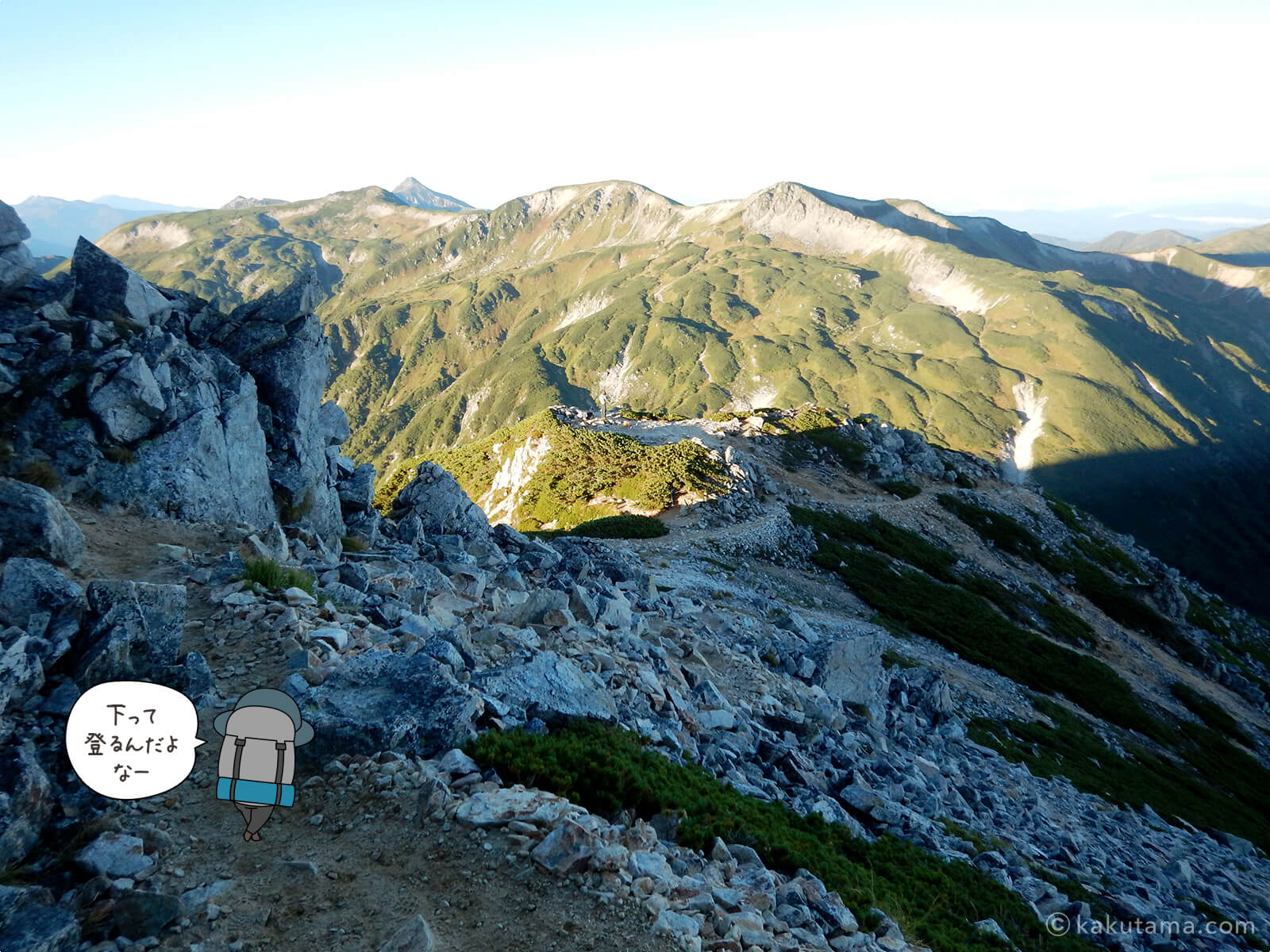 鷲羽岳からの登山道